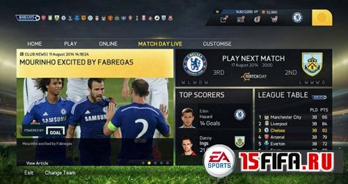 FIFA 15 - Match Day Live